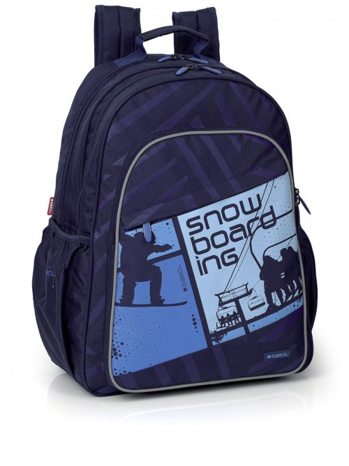mochila escolar doble cremallera   212400