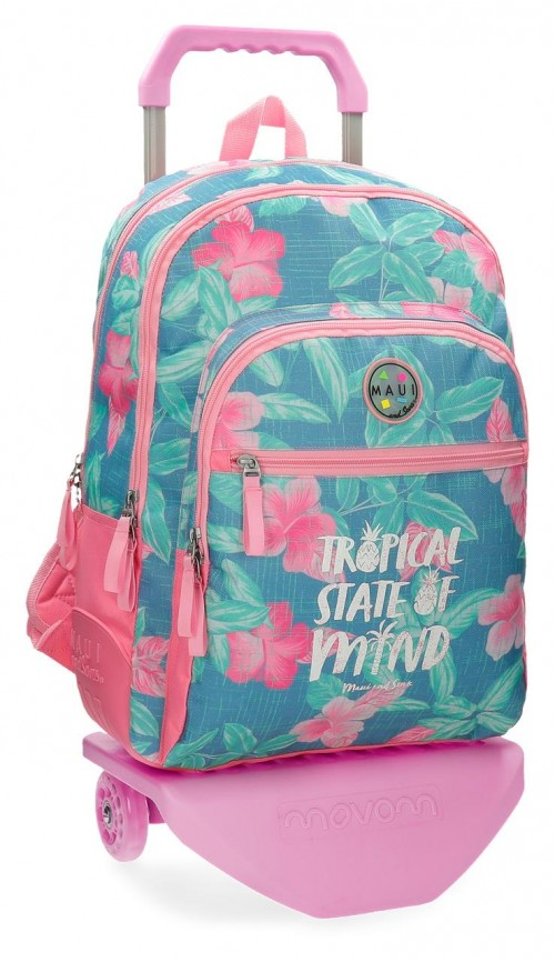 35526N1 mochila 44 cm doble c. con carro maui tropical