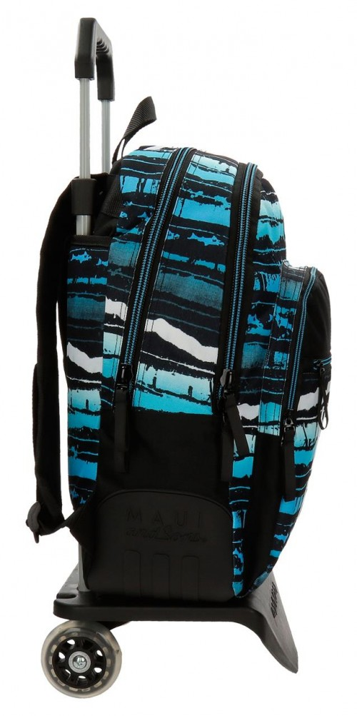 35626N1 mochila 44 cm doble c.  con carro maui waves lateral reforzado