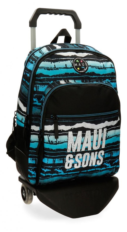 35626N1 mochila 44 cm doble c. reforzada con carro maui waves