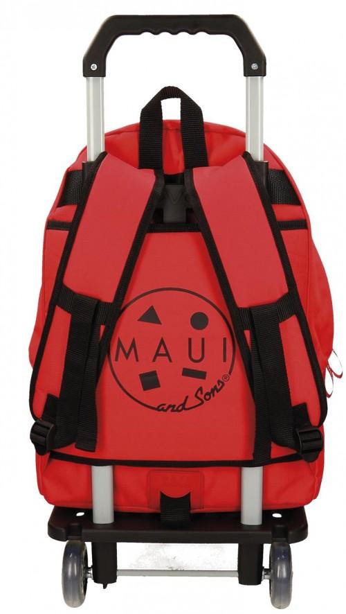 Mochila Maui Roja Carro 50923N2 dorsal