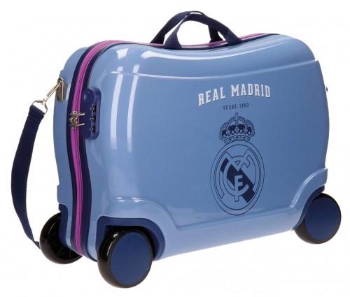54810c1 Maleta Infantil 4 ruedas real madrid 41 cm