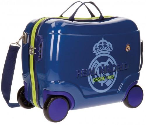 54810c2 Maleta Infantil 4 ruedas 41 cm real madrid