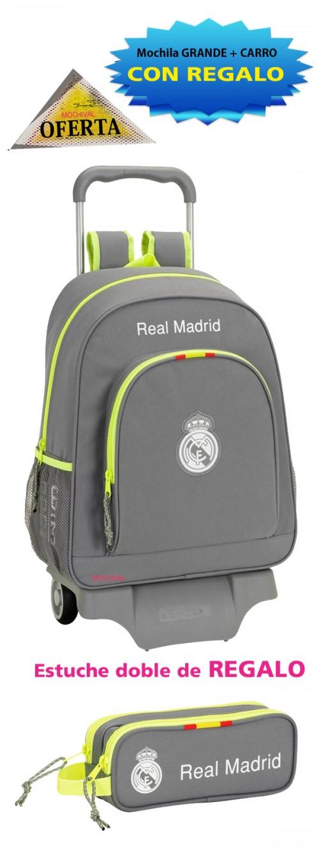 611554313 Oferta Mochila Real Madrid Gris grande