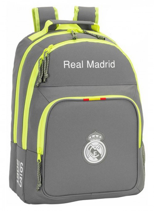 611554560 Mochila Real Madrid Gris doble