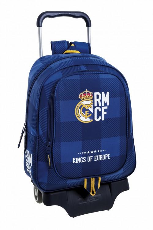611724313  Mochila Grande con Carro del  Real Madrid Blue