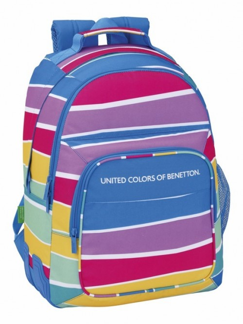 Mochila doble con cantoneras Benetton Stripes 611735773