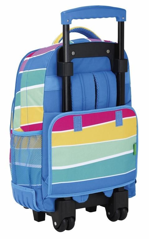 Mochila Compacta Benetton Stripes 611735818 trasera