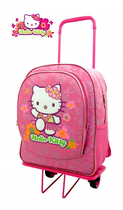 mochila con ruedas hello kitty 722438