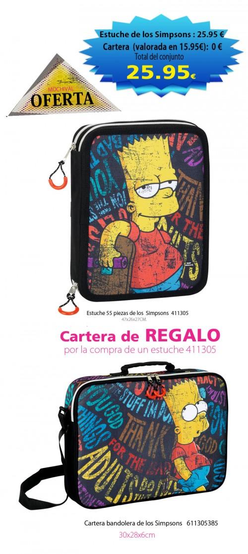 Estuche 55 piezas de los  Simpsons  411305