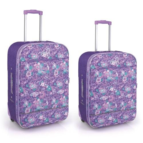 Juego 2 maletas Gabol Spring 217504099 Cabina y  Mediana