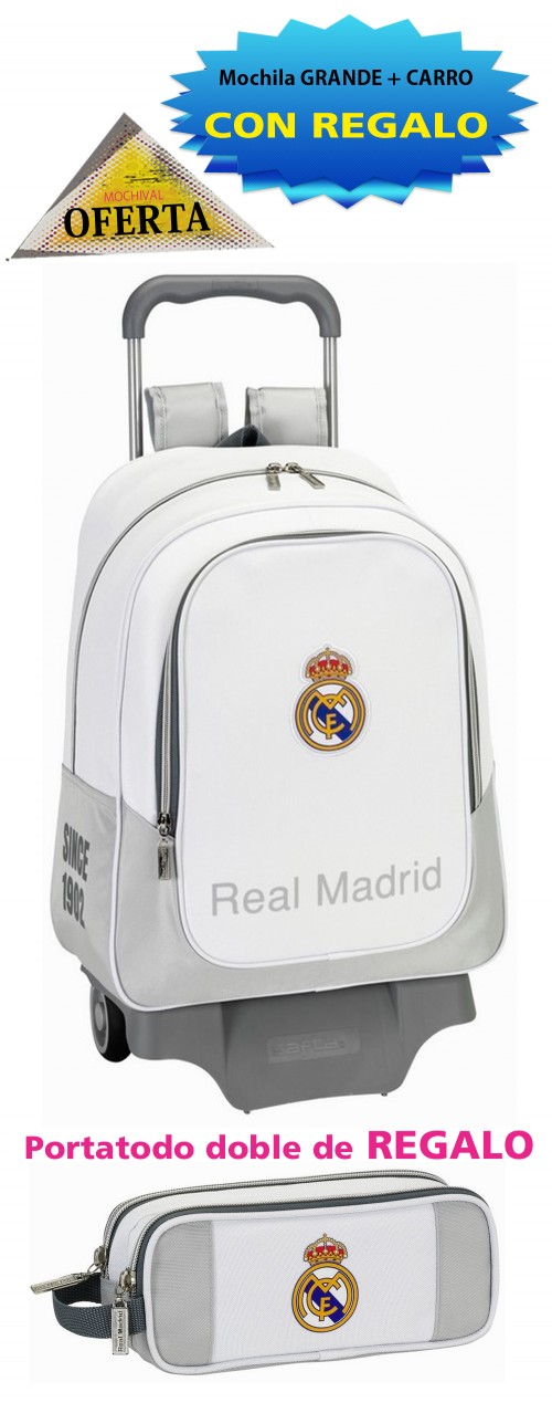 Mochila Real Madrid 611624313 Grande con Carro