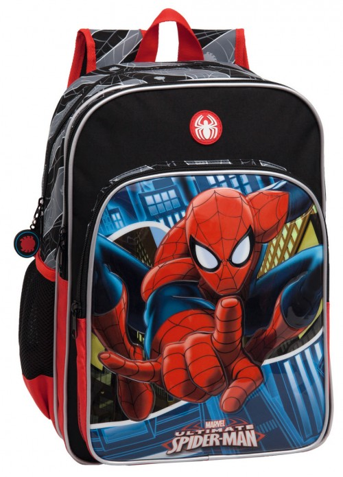 Mochila Spiderman 24524A1 Doble cremallera Adaptable a carro