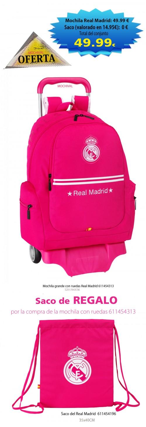Mochila grande con ruedas Real Madrid 611454313