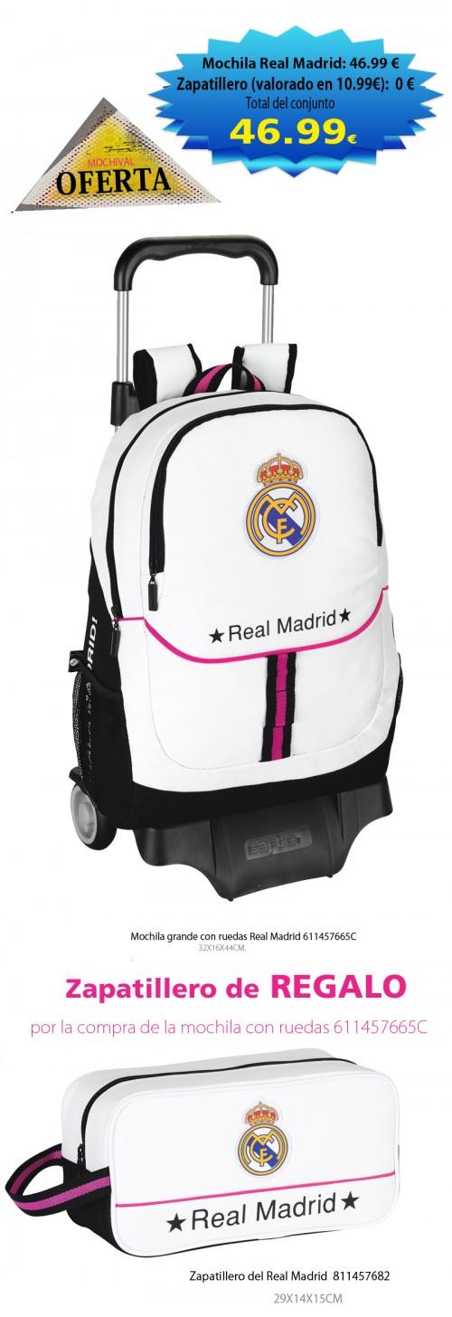 Mochila grande con ruedas Real Madrid 611457665C