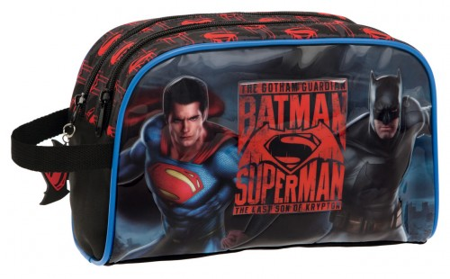 Neceser Superman y Batman City 2584451M  Adaptable 2 Compartimentos