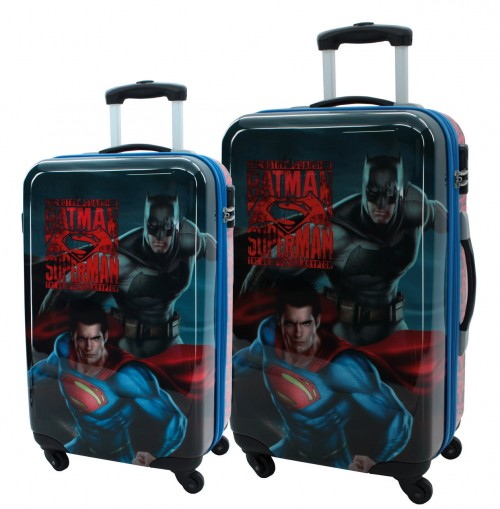Set 2 Trolleys Superman y Batman City 2581651 Cabina y Mediana