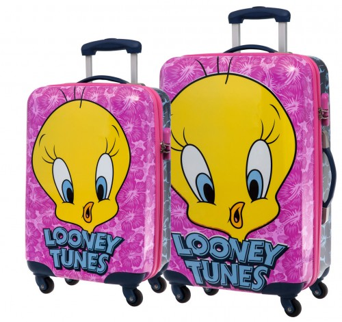 Set 2 Trolleys Tweety Pink 2521651 Cabina y Mediano