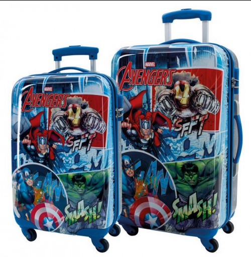 Set 2 trolleys Avengers Streeet 2431651 Cabina y Mediano.