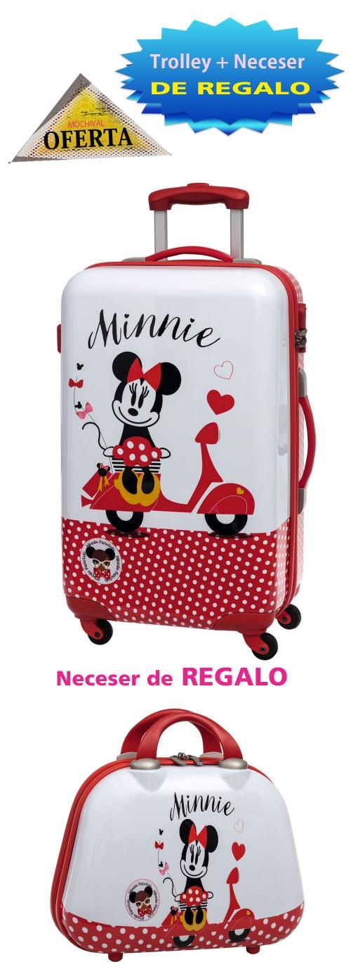 Trolley Mediano Minnie Vespa Rojo 2111851M