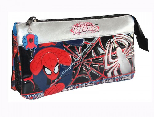 estuche spiderman  3 compartimentos 1334301