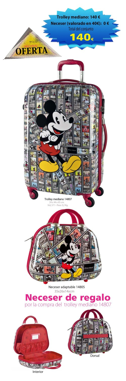 trolley mediano mickey 14807