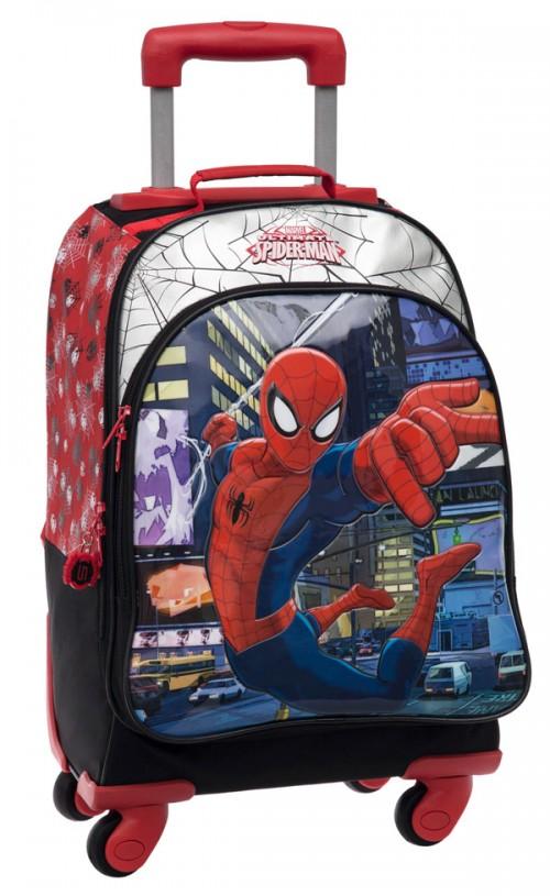 mochila 4 ruedas spiderman  2132851