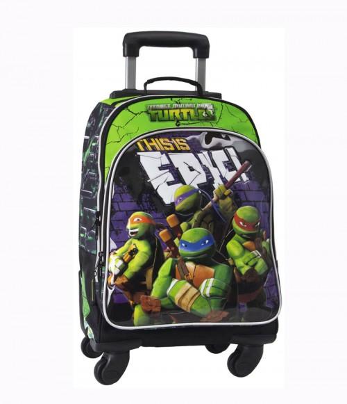 mochila trolley de 4 ruedas tortugas ninja 13928