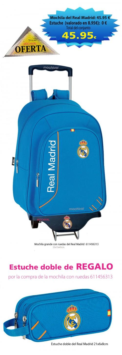 mochila con carro del real madrid 611456313