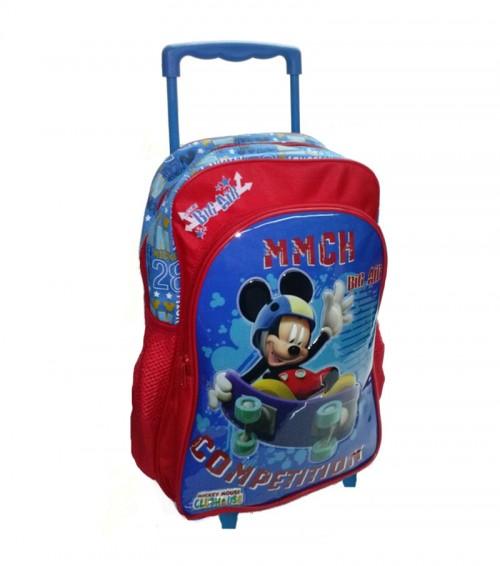 mochila con carro mickey 20727