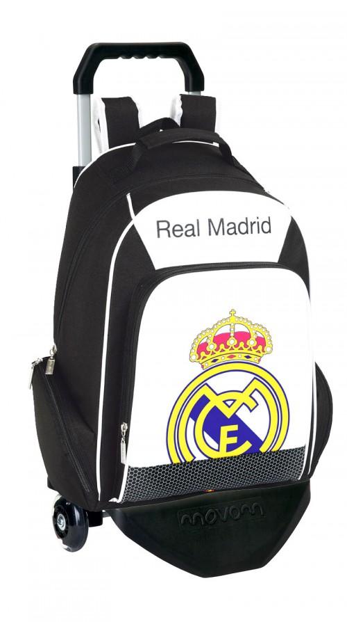 mochila con carro  real madrid 611324450c multibolsillos