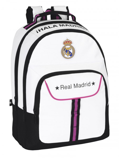 mochila del real madrid 611457560 doble cremallera