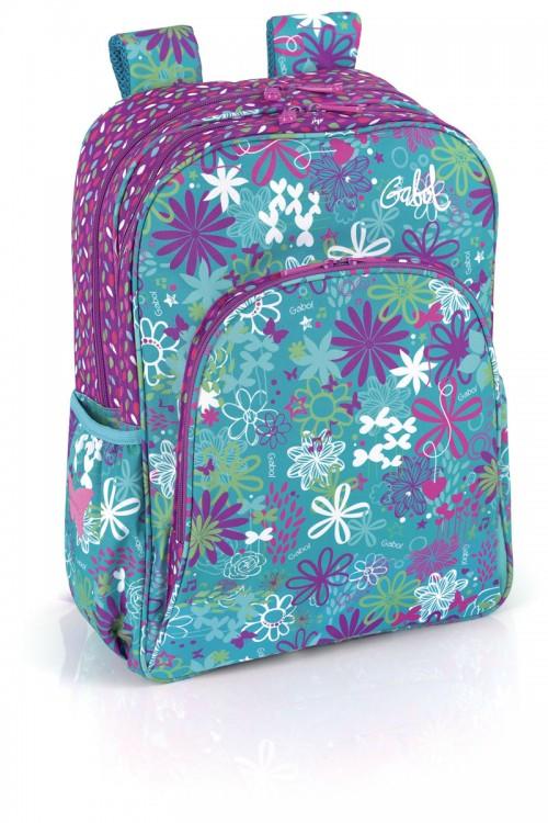 mochila escolar gabol  213600 adaptable a carro