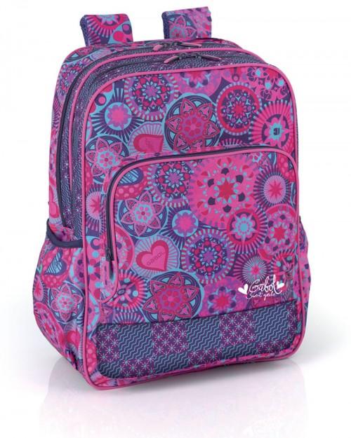mochila escolar gabol  213700 adaptable a carro
