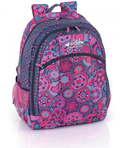mochila escolar gabol 213796 adaptable a ruedas