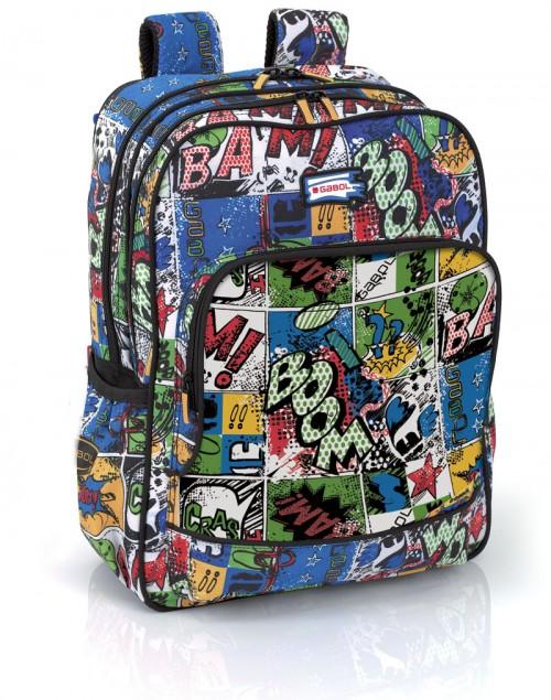 mochila escolar gabol  214000 adaptable a carro