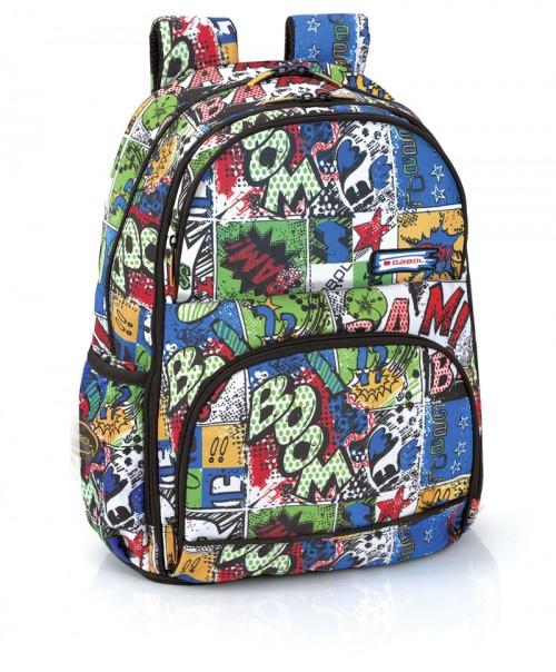 mochila escolar gabol 214086 adaptable a carro