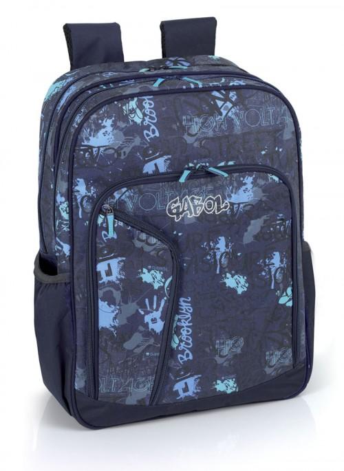 mochila escolar gabol 214300 adaptable a carro