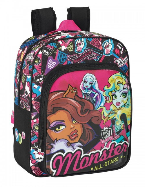 mochila escolar monster high  6 11343640