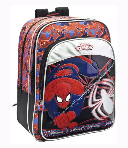 mochila spiderman 13324F doble cremallera adaptable a carro