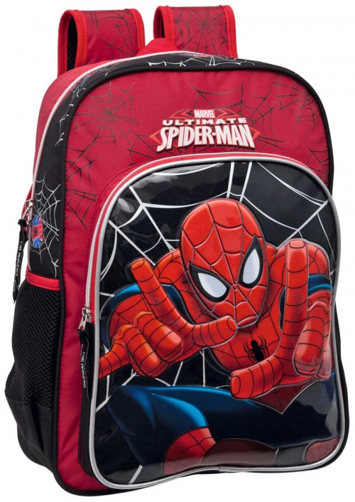 mochila spiderman 3572401 adaptable a carro doble cremallera