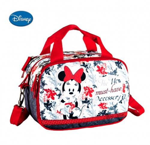 neceser bandolera minnie adaptable 3 compartimentos  10748