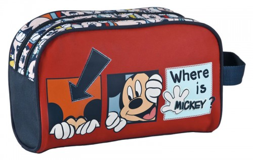 neceser mickey 2974401 doble cremallera y adaptable