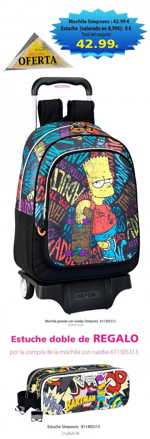 oferta mochila con carro simpsons 611305313