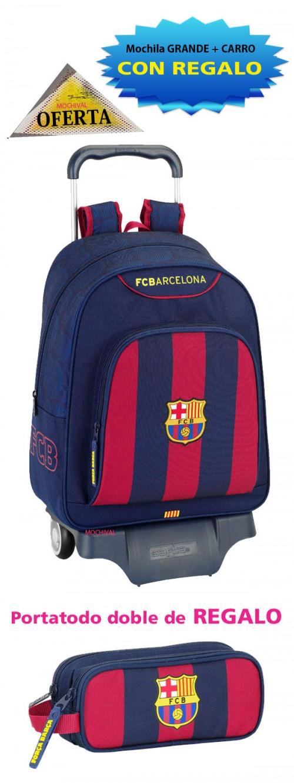 oferta mochila grande con ruedas del barcelona 611525313