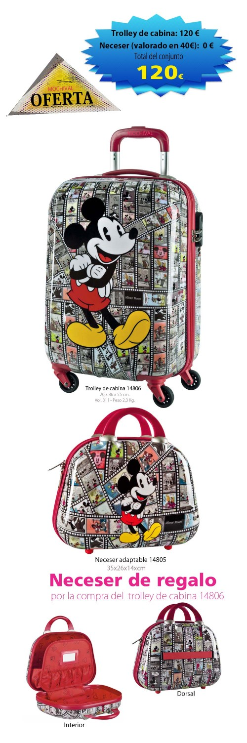 trolley de cabina mickey 14806