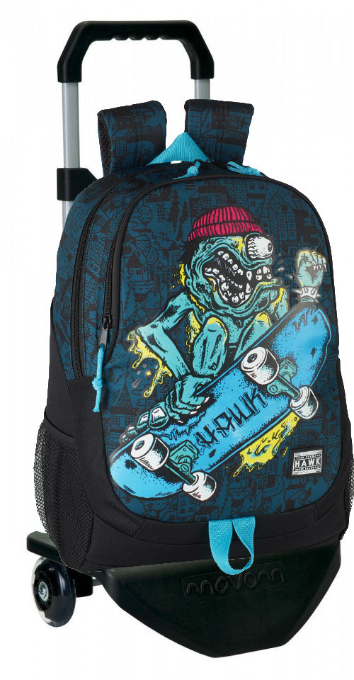 "611849313  mochila con carro  TONY HAWK ""MONSTER"""