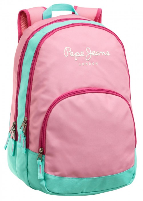 Mochila Pepe Jeans Pink 62524A1 Adaptable a carro, doble cremallera