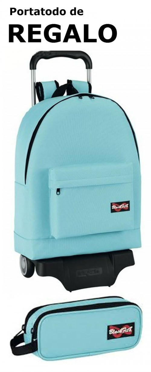 Mochila escolar Blackfit8 Turquoise con carro 641434174