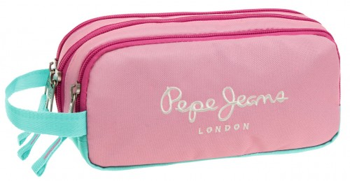 Portatodo Tres Compartimentos Pepe Jeans Pink 6254751